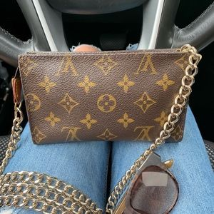 Authentic Louis Vuitton back bag pouch